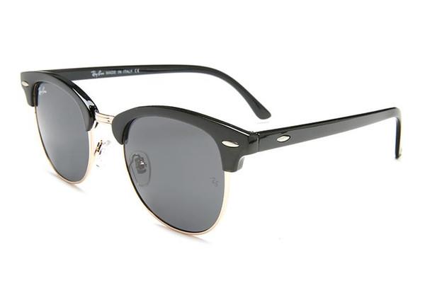 Moda AEVOGUE Gafas de sol polarizadas Hombres Acetato grueso Marco Polaroid Lens Estilo de verano Diseño de marca Gafas de sol CE