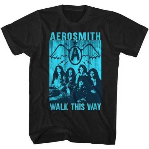 Aerosmith Walk This Way Group Фото взрослый футболка рок-музыка подарок печать футболка хип-хоп футболка