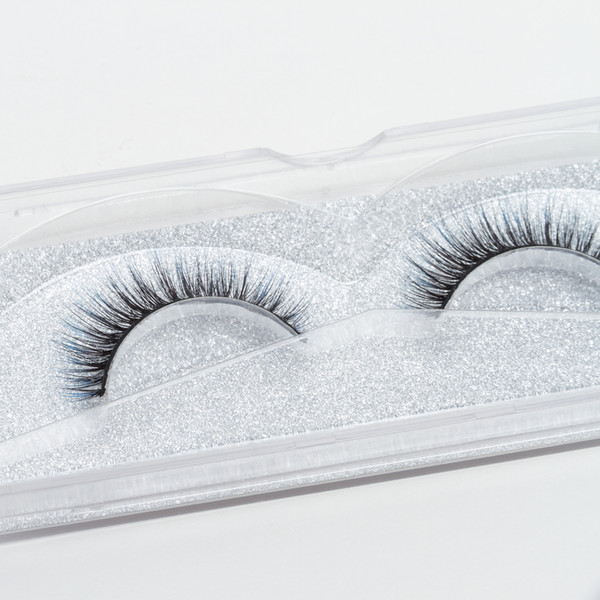 Seashine Luxurious natural length colorful Synthetic 3d silk eyelash strips eyelashes color false lashes free shipping