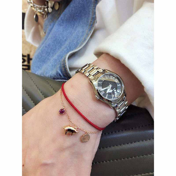 Korea New Bracelet New Year Lucky Pig Red String High Quality Bracelet Fashion Wild Personality