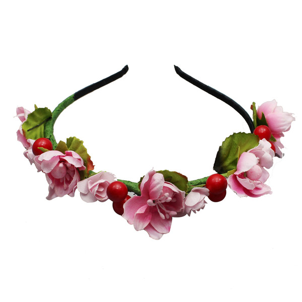 MOQ:10PCS Wedding Bride Headdress Hair Accessories Cloth Plum Blossom and Cherry Hairpin Artificial Floral Headwear For Bride