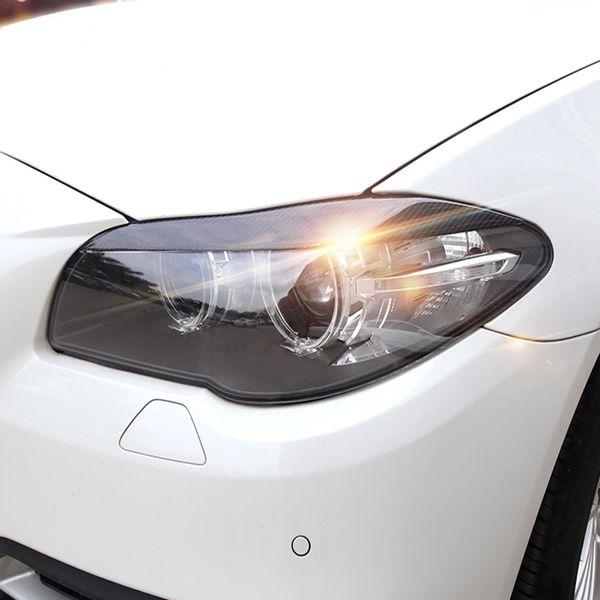 Fiber De Carbone Phares Sourcils Paupières pour BMW F30 F10 3 5 série Car Styling Avant Phare Sourcils Garniture Couverture Accessoires