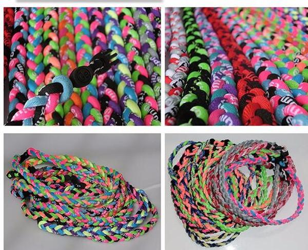Sports baseball Titanium Healthy GT Tornado 3 ropes necklace 3 braid rope necklaces 3 Weave necklace Bracelets