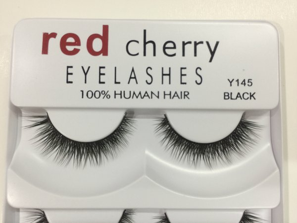 False Eyelashes 100% Human Hair Red Cherry Fake Lashes 5 pairs each set Black color 8 styles available DHL Free
