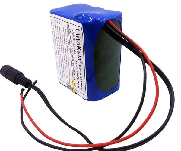 Liitokala de alta calidad portátil 12 V 4400 mAh 18650 batería de litio recargable Pack para cámara CCTV mediados de GPS 4000 mah batería