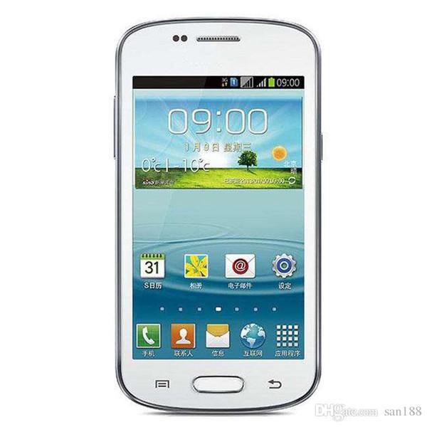 Goophone Dual core 3G WCDMA 4G Rom 3MP bar desbloqueado telefone celular Android 4 polegadas S7572 celular telefone inteligente com GPS WIFI