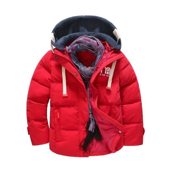 Cola boys winter outerwear fashion cotton thick down parkas for children casual hoodies clothing kids coats jackets