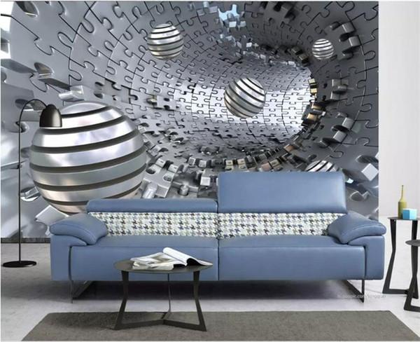 Custom 3d Wall Murals Wallpaper Modern Abstract Stereoscopic Space Circle Ball Living Room Tv Background Photo Wall Paper Mural Hd Wallpapers Desktop
