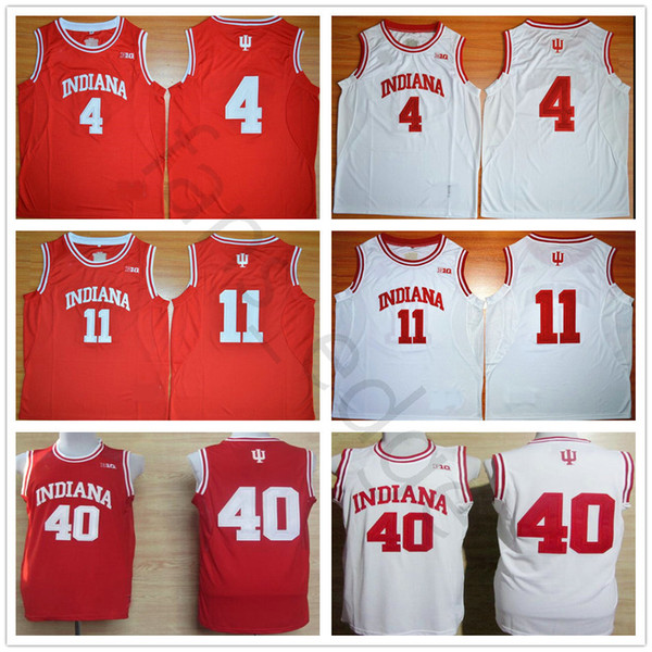 more photos 9945b e914e 2019 NCAA Indiana Hoosiers College 4 Isiah Thomas Jersey Red White 40 Cody  Zeller Stitched 11 Victor Oladipo University Basketball Jerseys Shirts From  ...