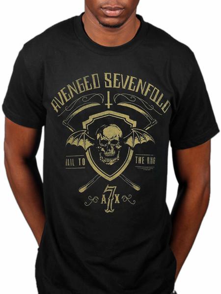 Oficial Avenged Sevenfold Escudo E Foice T-Shirt A7X Cidade Do Pesadelo Do Mal