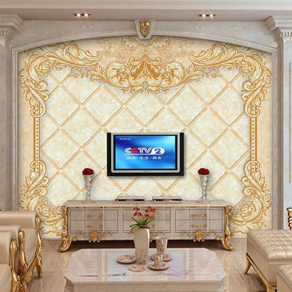 Arkadi Özel Fotoğraf Duvar Kağıdı Avrupa Tarzı Çiçek Desen Büyük Duvar Oturma Odası TV Arka Plan Duvar Dekor 3D Duvar Resimleri Duvar Kağıdı