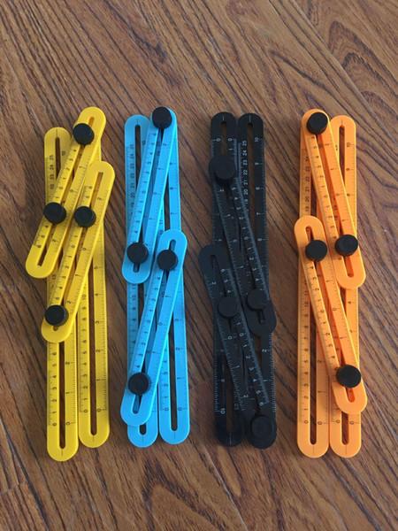 Multifonctionnel Angle-izer Modèle Outil En Plastique De Mesure Quatre-Règle Règle Outil De Mesure Précis Pour Handmen c103