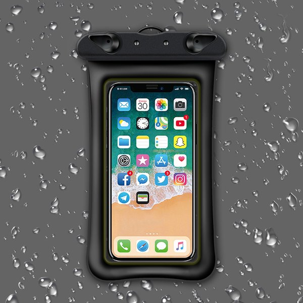 6 Inch Float Airbag Waterproof Swimming Bag Mobile Phone Case Cover Dry Pouch Universal Diving Drifting Riving Trekking Bags