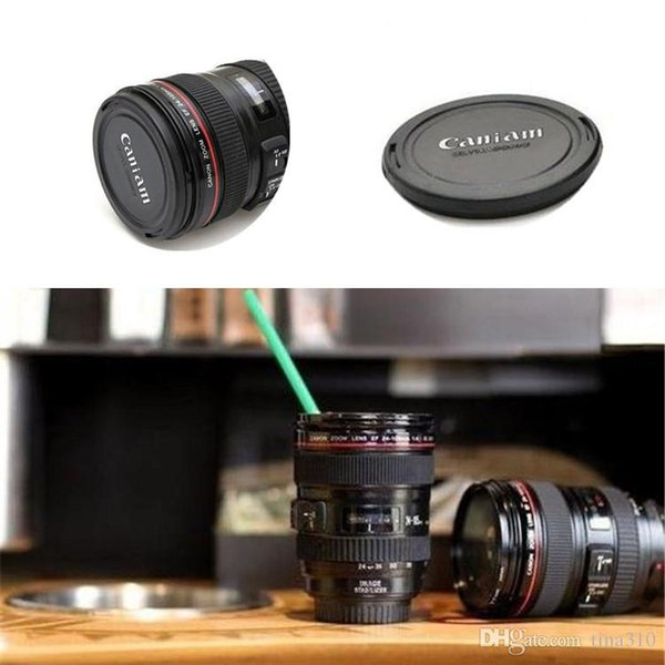 Fashion High cover lens cup Canons Coffee Mug Photographers Novelty Gifts Non thermal insulation water cup IA753