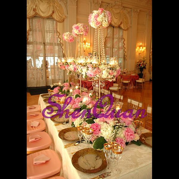 Acheter Centres De Mariage De Cristaux Suspendus Fabriques En Chine Decoration De Cristaux De Table De Mariage A Vendre Guirlandes De Fleurs Pour