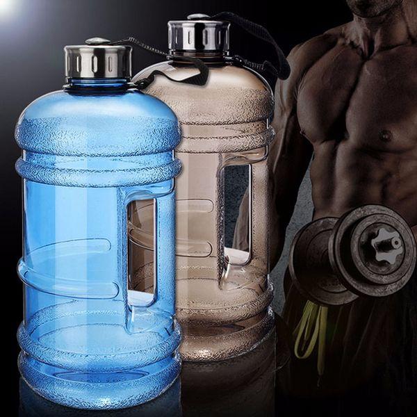 HELLOYOUNG2.2L Gran capacidad Botellas de agua Deportes al aire libre Gimnasio Medio galón Entrenamiento de la aptitud Camping Correr Entrenamiento Botella de agua