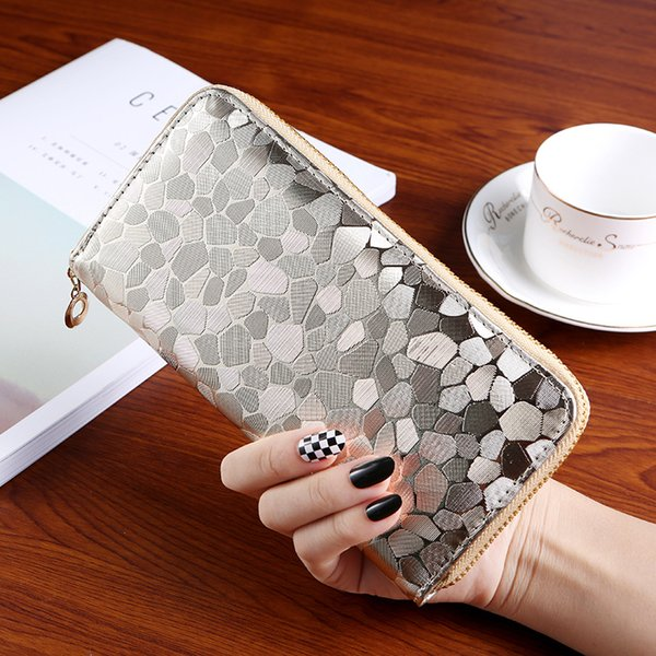 Purse Lady Long Lady Wallet Korean Zipper Hand Bag 2018 New Stone Print Women's Small Hand Bag