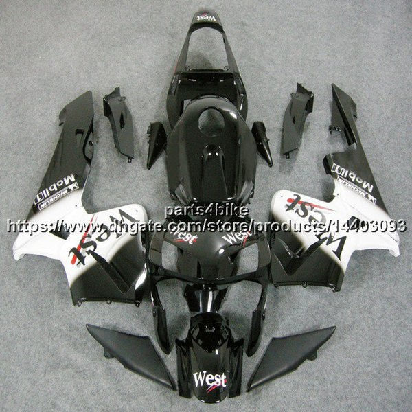 23colors + 5Gifts Spritzen-Westschwarz-Karosserie Motorrad-Verkleidung für Honda CBR600RR 2003 2004 CBR 600RR 03 04 ABS-Plastikinstallationssatz