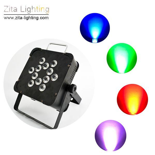 12Pcs/Lot Zita Lighting LED Portable Mini Par Lights Rechargeable Battery Par Cans Wall Washer Stage Lights Equipment DJ Disco Wedding Party