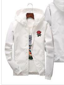 18ss Kanye West Rose Jacket Windbreaker y3 Men And Women's 2018 Jacket New Fashion White And Black Roses Outwear Coat Free delivery