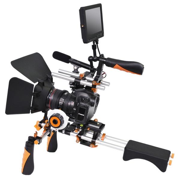 YELANGU Dual-Control-Hebel Leichte Universalversion DSLR-Kamera-Support-System Shoulder Rig Kit