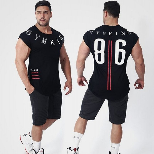 2018 Men Summer Fashion Leisure t Shirt Fitness Bodybuilding Muscle male Short Slim fit Shirts Cotton Tee tops clothing