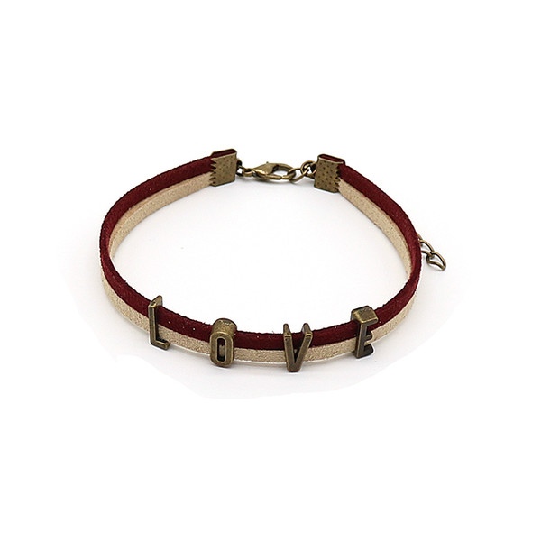 26 Letters Women Simple Name Bracelets Select Custom Charm Lovers Gift Copper Color Initial Choker For Girls Wholesale