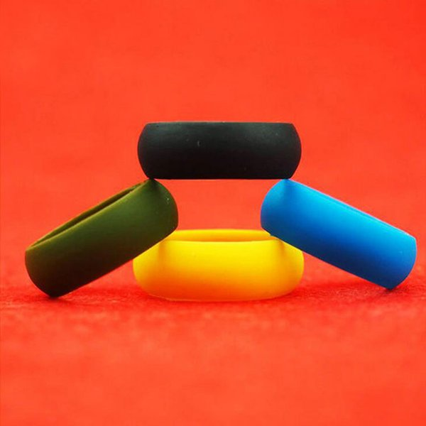 best selling New Fashion Silicone Ring Multi Color Hypoallergenic Crossfit Silicone Rubber Flexible Rings Band For Wedding Engagement Party
