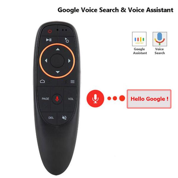 G10 Gyro Sensing Fly Air Maus mit Sprachsteuerung 2,4 GHz Funkmikrofon Fernbedienung für Smart TV, Android Box PC