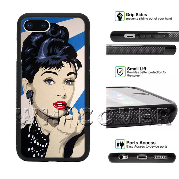 Audrey Hepburn Gorgeous Smoking Idol Pretty Beautiful woman Super star sexy Gorgeous Phone Case For iPhone iX i5/6/7/8 Plus SE