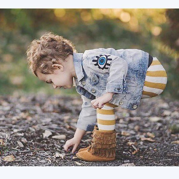 Girls Denim Coat Baby Boys Clothes Spring Winter Children Jeans Jacket Sequins Little Beauty Design Kids Outerwear Drop Shipping