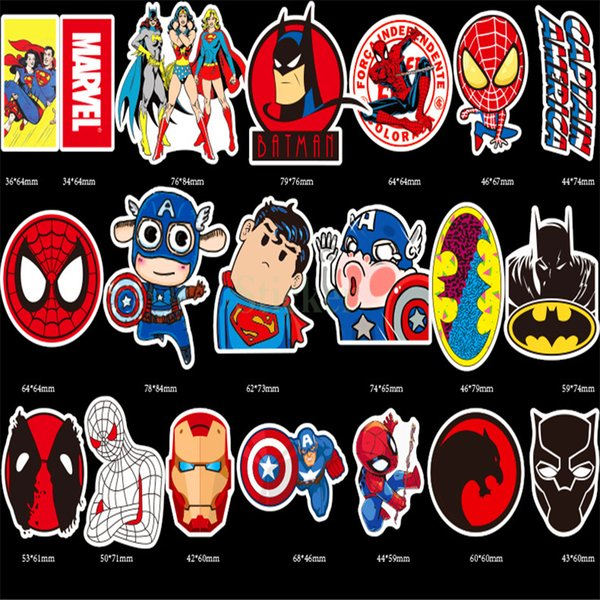 top popular Classical 50 PCS lot Waterproof Stickers For MARVEL Super Hero Simpson for DIY Skateboard Guitar Suitcase Laptop Bicycle Batman Stickers 2020