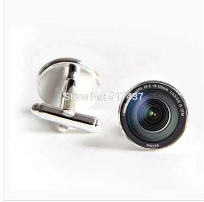 J-269 wholesale DSLR Lenses Cufflinks Camera Lens Cuff link Cufflinks For Mens brand Cuff Button