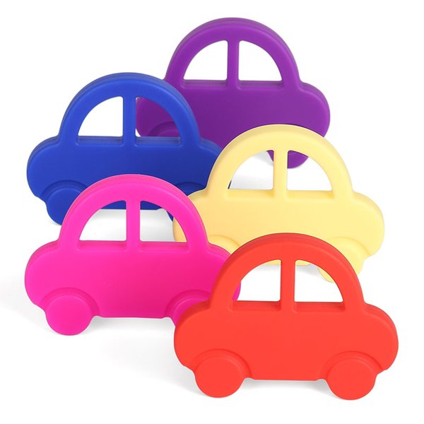FDA Silicone Baby Teething Toys Adorable Silicone Car Teether For Chew - Best for Girl Or Boy Infant Lovely Sensory Learning Baby Shower