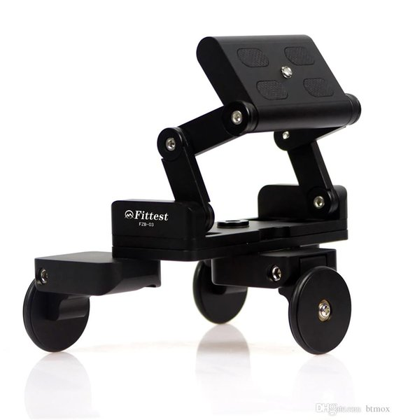 MonkeyJack Foldable Tricycle Camera Rail Cars Table Dolly Car Video Slider Traker 1/4 Screw Mount Plate for DSLR Camera / Mobile Phone