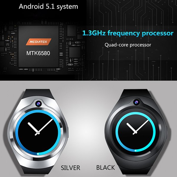 ZGPAX S216 3G Android 5.1 Smart Watch 1.3 inch Heart Rate Camera Video Health Monitoring SmartWatch phone support WIFI SIM WCDMA