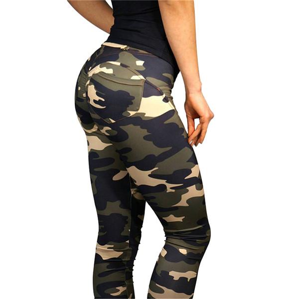Women Leggins Camouflage Printed Leggings Women High Waist Workout Legging Female Sporting Slim Jeggings S-L