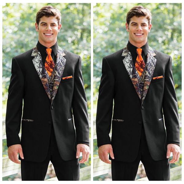 Discover available super specials 2018 Vogue Realtree Camo Wedding Tuxedos Farm Black Wedding Camouflage Suit  Custom Slim Fit Mens Blazers Groom WearJacket+Pant+Vest Dress Men Formal ...