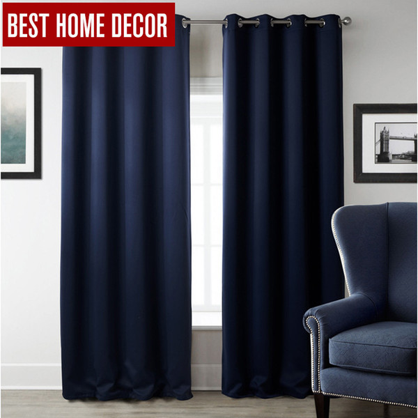 best selling New Modern Blackout Curtains For Window Treatment Blinds Finished Drapes Window Blackout Curtain For Living Room The Bedroom Blinds