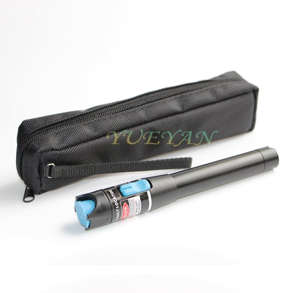 YUEYANTX Metal VFL Fiber Optic Cable Red Laser Tester Pen 10mW Visual Fault Locator Fiber Optic Cable Tester Meter 10-12KM