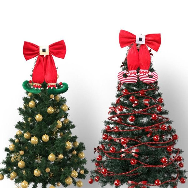 Large Christmas Ornaments.Christmas Tree Toppers Christmas Ornaments Cute Elves Boot 2019 Xmas Tree Hanging Decor Gifts Pendant Home Mall Party Decoration Large Christmas