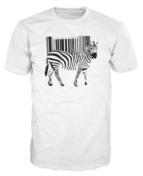Banksy Barcode Zebra Funny Smart Moda urbana Hipster camiseta