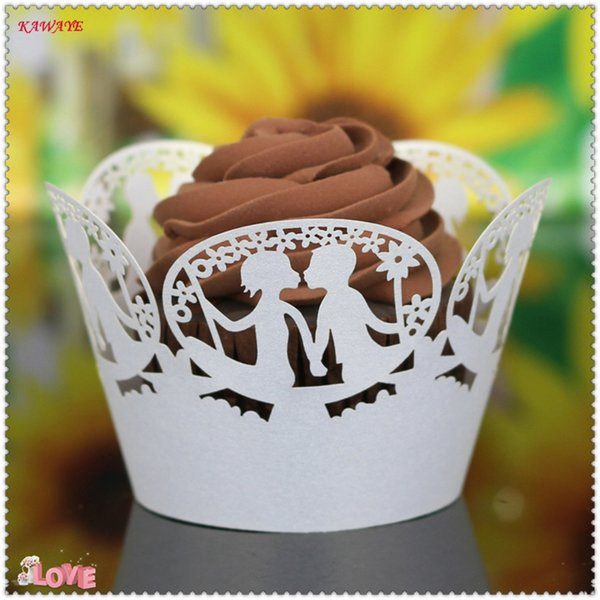 14Color 50pcs/set Cut Christmas, Birthday, Wedding Cake Decorating Tools Paper Muffin Cupcake Baking Cups Cake paper cup 7ZC18