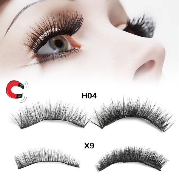 1Box Reusable Luxurious Soft Mink Hair Triple Magnetic False Eyelashes Handmade Cilia Thicker Magnet Eye Lashes Makeup Extension