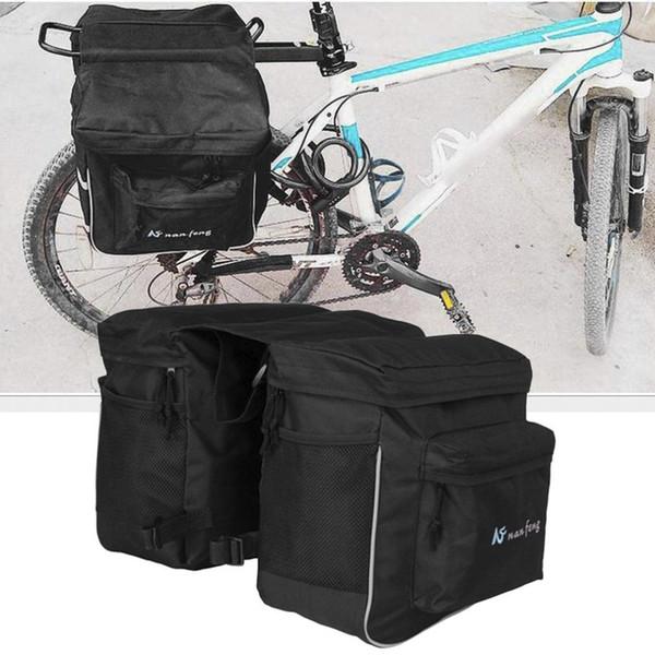 Saco de bicicleta Unilateral Multifuncional Saco À Prova D 'Água Grande Capacidade MTB Bicicleta Traseira Rack Transportadora Ao Ar Livre Ciclismo Pannier