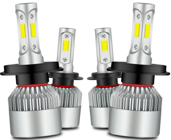 Araba LED Farlar C6 Farlar Oto Aydınlatma Kayıpsız Kurulum Ampul Süper Parlak Lamba H1 H3 H4 H7 H8 H9 H13