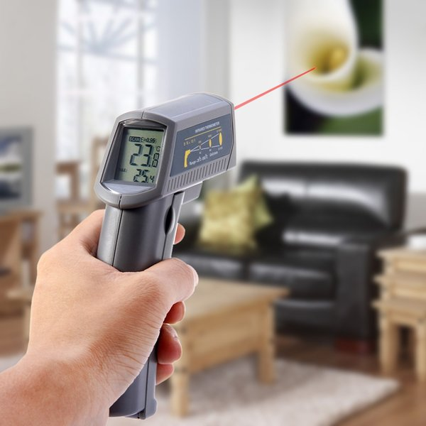 Hygrometer Temperature Controller Gun Non-Contact Infrared Thermometer With Display Laser Termometro Digital Hot Sale