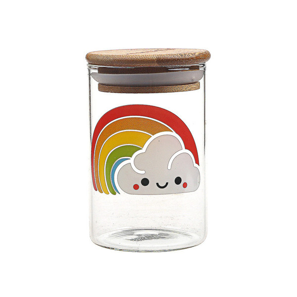 Smoking Dogo 420 Wide Mouth Jar Clear Glass Herb Jar Pill Coffee Tea Vacuum Container Sealed Container