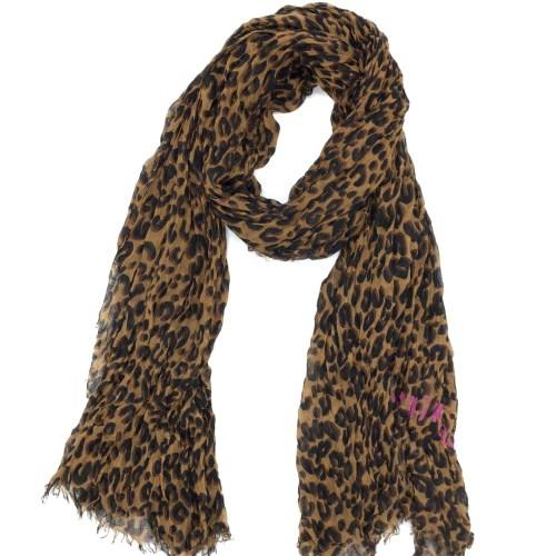 Big sale Autumn and winter classic print leopard pattern cotton material creasing Ms. Scarf big size 200cm * 130cm