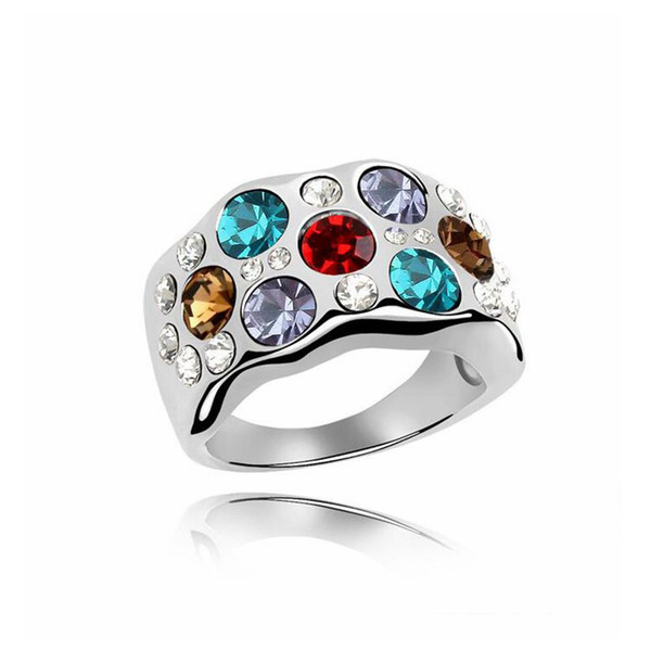 Crystal Multicolor Ring Dance cocktail party dress accessories